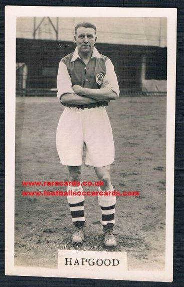 1936 Ernie Hapgood Arsenal postcard L&J